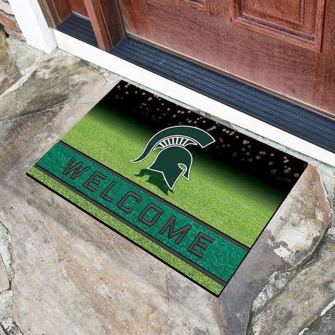 NCAA Michigan State Spartans Recycled Rubber CRUMB Doormat - Bed, Bath, And My Team