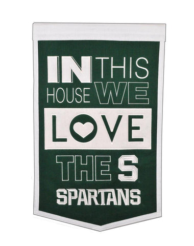 NCAA Michigan State Spartans HOME Hanging Wool Banner - Bed, Bath, And My Team