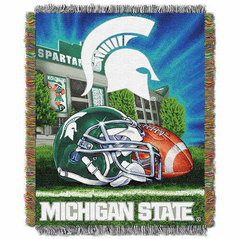 NCAA Michigan State Spartans HOME FIELD ADVANTAGE Tapestry - Bed, Bath, And My Team