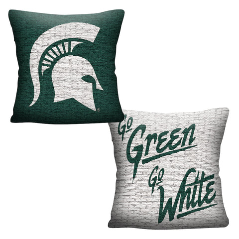 NCAA Michigan State Spartans INVERT Throw Pillow - Bed, Bath, And My Team