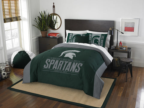 NCAA Michigan State Spartans Queen/Full Comforter and Sham Set - Bed, Bath, And My Team