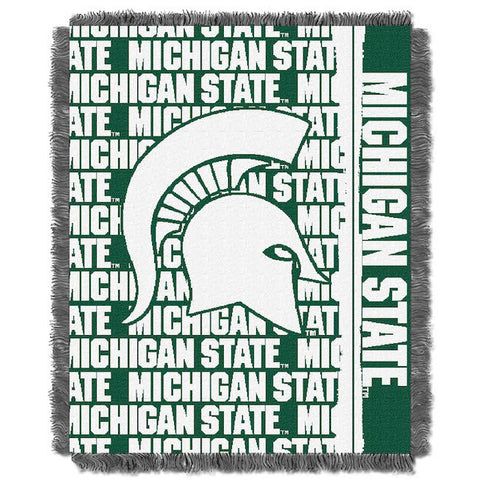NCAA Michigan State Spartans Woven Decorative Tapestry - Bed, Bath, And My Team