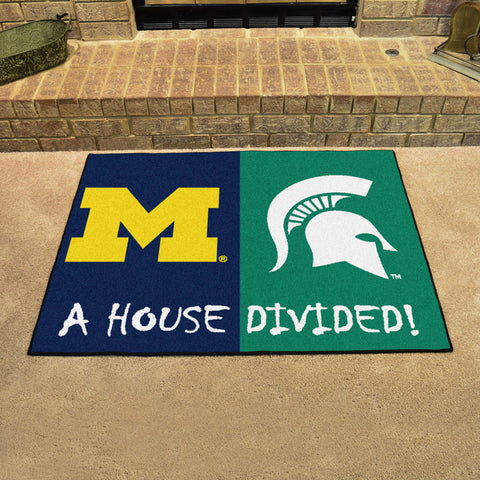 Michigan Wolverines Michigan State Spartans Rivalry Rug