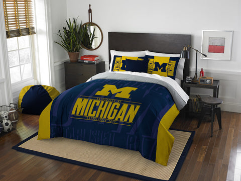 NCAA Michigan Wolverines Queen/Full Comforter and Sham Set - Bed, Bath, And My Team