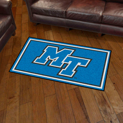 NCAA Middle Tennessee State Blue Raiders 3 X 5 Ft. Plush Area Rug - Bed, Bath, And My Team