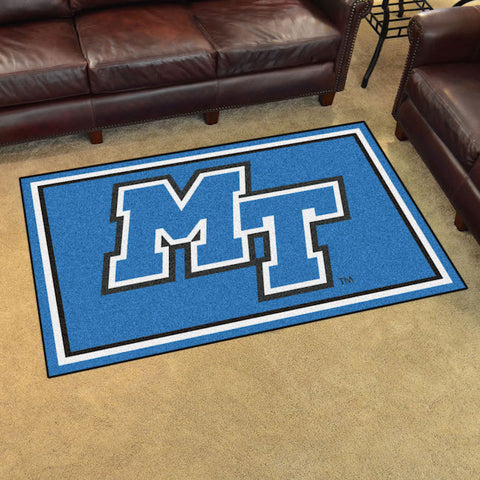 NCAA Middle Tennessee State Blue Raiders 4 X 6 Ft. Area Rug - Bed, Bath, And My Team