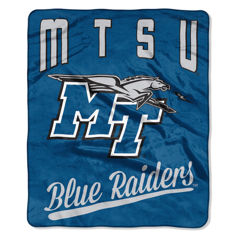 NCAA Middle Tennessee State Blue Raiders 50 x 60 Alumni Raschel Throw Blanket - Bed, Bath, And My Team