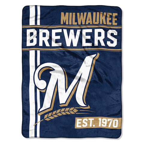 Milwaukee Brewers Micro Raschel Throw