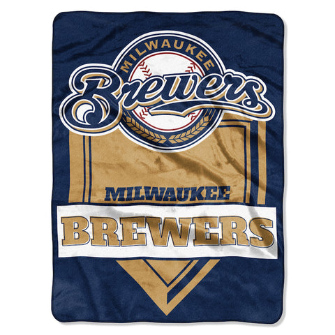 Milwaukee Brewers large plush blanket