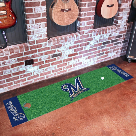 Milwaukee Brewers Golf Putting Green Mat