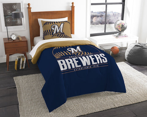 Milwaukee Brewers twin comforter and pillow sham