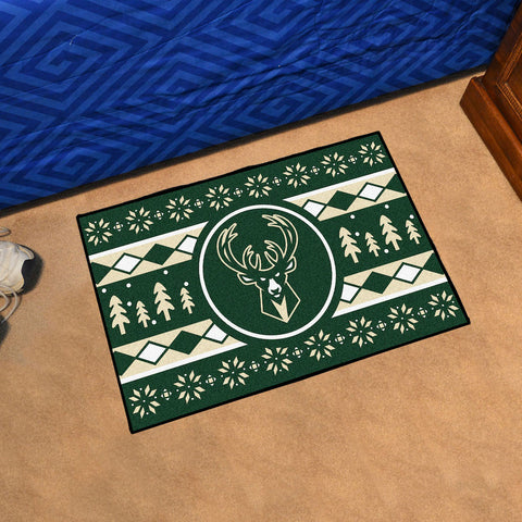 Milwaukee Bucks Holiday Sweater Rug