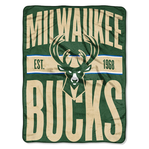 Milwaukee Bucks Micro Raschel Throw