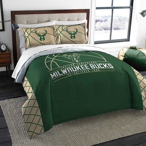 Milwaukee Bucks queen/full comforter and 2 shams