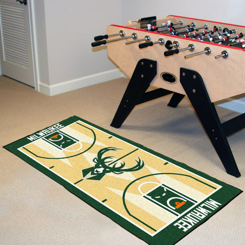 Milwaukee Bucks Basketball Court Carpet Runner Rug