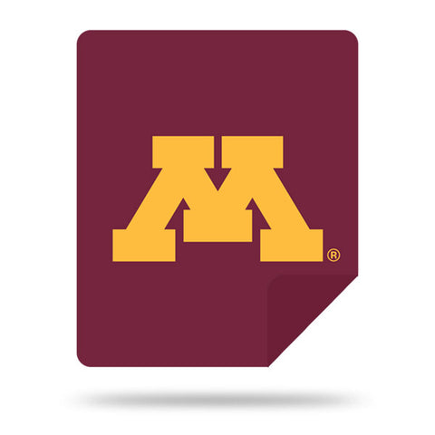 NCAA Minnesota Golden Gophers 60 x 72 DENALI Silver Knit Throw Blanket - Bed, Bath, And My Team