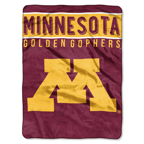 NCAA Minnesota Golden Gophers 60 x 80 Large Plush Raschel Throw Blanket - Bed, Bath, And My Team