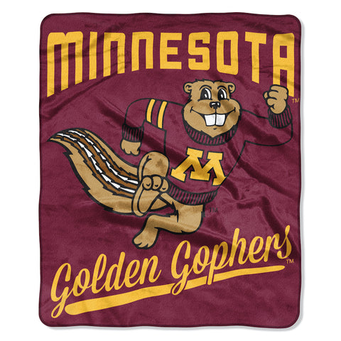 NCAA Minnesota Golden Gophers 50 x 60 Alumni Raschel Throw Blanket - Bed, Bath, And My Team