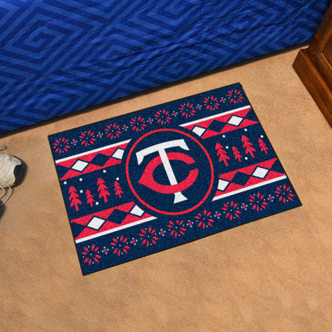 Minnesota Twins Holiday Sweater Rug