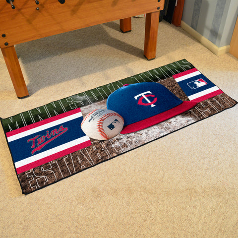 Minnesota Twins Baseball Logo Carpet Runner Rug