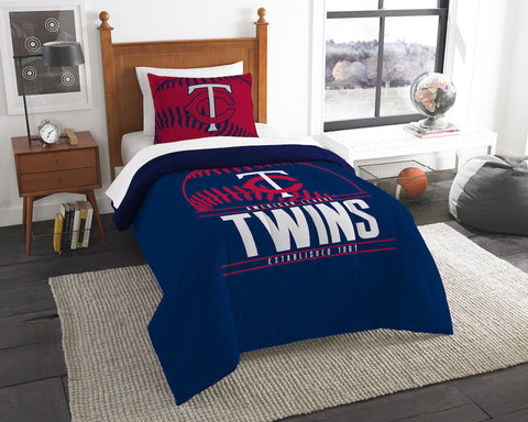 Minnesota Twins twin comforter and pillow sham