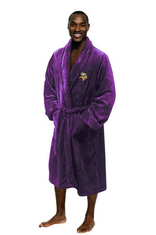 Minnesota Vikings Bath Robe Mens Large