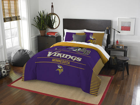 Minnesota Vikings queen/full comforter and 2 shams
