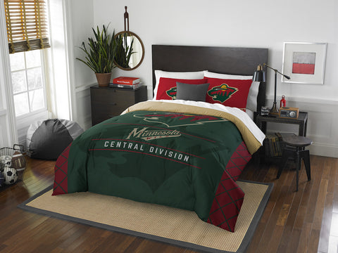 Minnesota Wild queen/full comforter and 2 shams