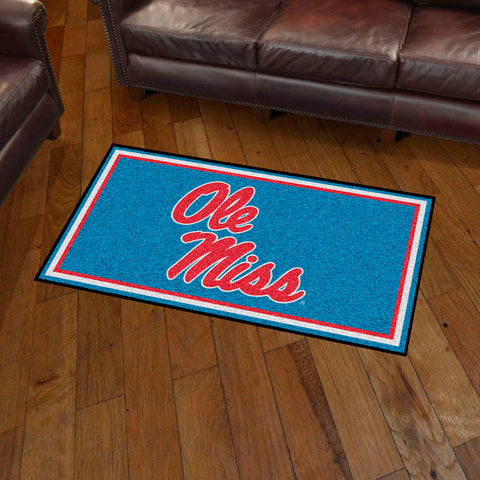 NCAA Mississippi Rebels LIGHT BLUE 3 X 5 Ft. Plush Area Rug - Bed, Bath, And My Team