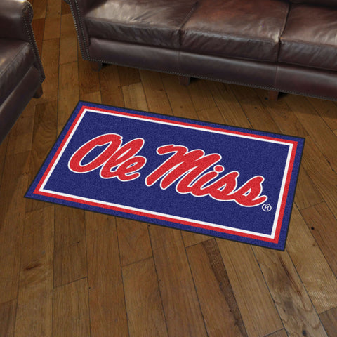 NCAA Mississippi Rebels 3 X 5 Ft. Plush Area Rug - Bed, Bath, And My Team