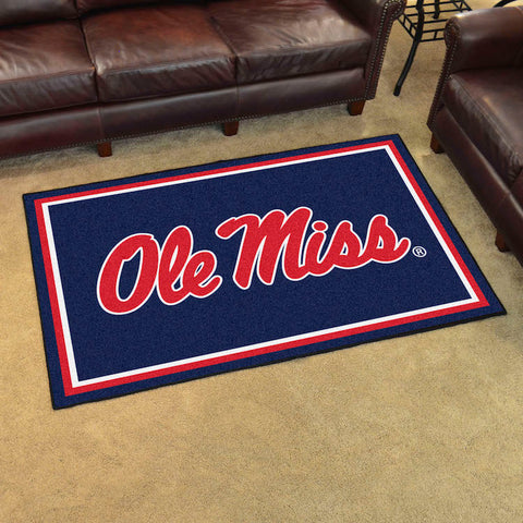 NCAA Mississippi Rebels 4 X 6 Ft. Area Rug - Bed, Bath, And My Team