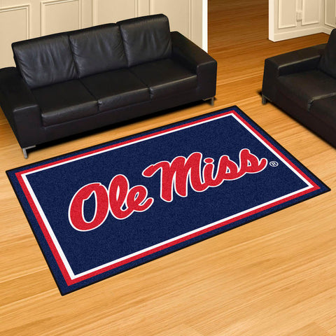 NCAA Mississippi Rebels 5 X 8 Ft. Area Rug - Bed, Bath, And My Team
