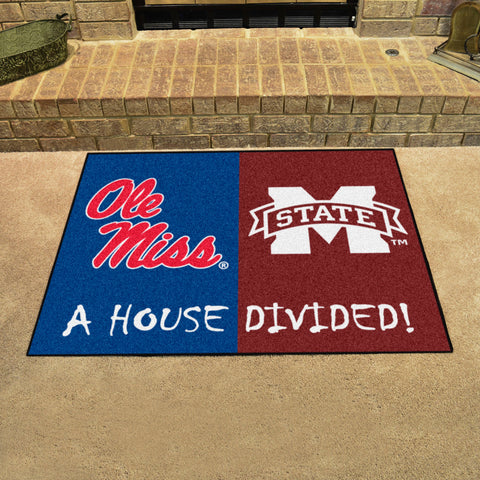 Mississippi Rebels Mississippi State Bulldogs Rivalry Rug
