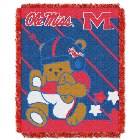 NCAA Mississippi Rebels Baby Blanket - Bed, Bath, And My Team