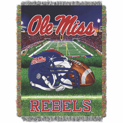NCAA Mississippi Rebels HOME FIELD ADVANTAGE Tapestry - Bed, Bath, And My Team