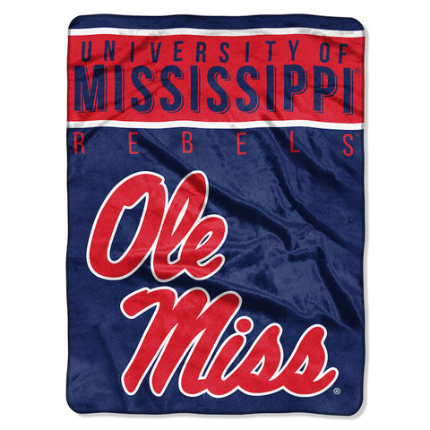 NCAA Mississippi Rebels 60 x 80 Large Plush Raschel Throw Blanket - Bed, Bath, And My Team