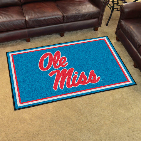 NCAA Mississippi Rebels LIGHT BLUE 4 X 6 Ft. Area Rug - Bed, Bath, And My Team