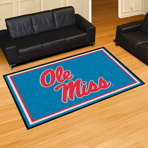 NCAA Mississippi Rebels LIGHT BLUE 5 X 8 Ft. Area Rug - Bed, Bath, And My Team