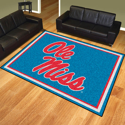 NCAA Mississippi Rebels LIGHT BLUE 8 X 10 Ft. Area Rug - Bed, Bath, And My Team