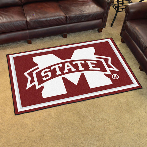 NCAA Mississippi State Bulldogs 5 X 8 Ft. Area Rug - Bed, Bath, And My Team