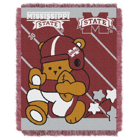 NCAA Mississippi State Bulldogs Baby Blanket - Bed, Bath, And My Team