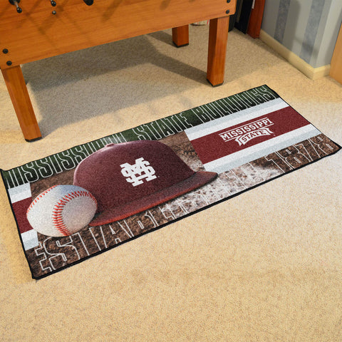 NCAA Mississippi State Bulldogs Baseball Logo Carpet Runner Rug - Bed, Bath, And My Team