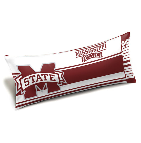 NCAA Mississippi State Bulldogs King Size Body Pillow - Bed, Bath, And My Team