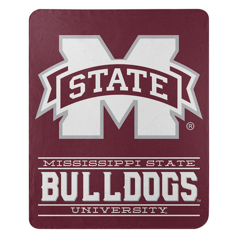 NCAA Mississippi State Bulldogs Fleece Throw ~ 50 x 60 - Bed, Bath, And My Team