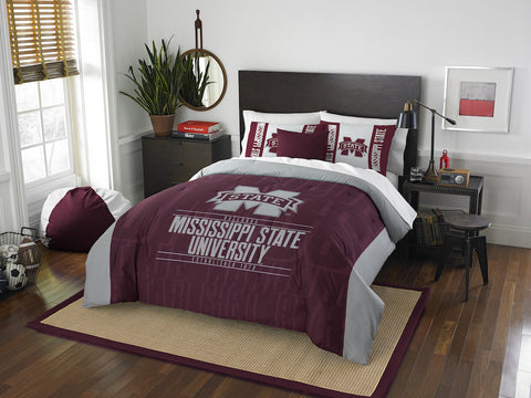 NCAA Mississippi State Bulldogs Queen/Full Comforter and Sham Set - Bed, Bath, And My Team