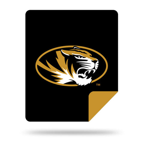 NCAA Missouri Tigers 60 x 72 DENALI Silver Knit Throw Blanket - Bed, Bath, And My Team