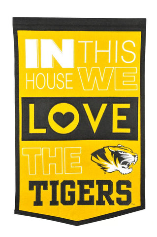 NCAA Missouri Tigers HOME Hanging Wool Banner - Bed, Bath, And My Team