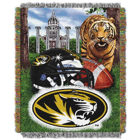 NCAA Missouri Tigers HOME FIELD ADVANTAGE Tapestry - Bed, Bath, And My Team