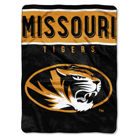 NCAA Missouri Tigers 60 x 80 Large Plush Raschel Throw Blanket - Bed, Bath, And My Team