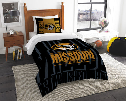 NCAA Missouri Tigers Twin Comforter and Pillow Sham - Bed, Bath, And My Team